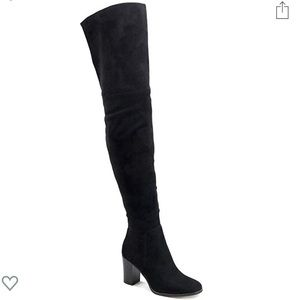 New Olivia Miller Black Suede Boots OTK over knee